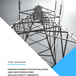 Recording of SMARTrenew Webinar – Finnish power system balance and new operators on electricity markets